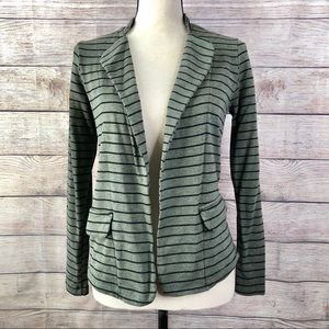 Anthropologie Dolan Olive w/ Black Stripes Blazer